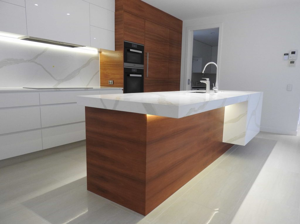 strong vein marble kitchen renovation
