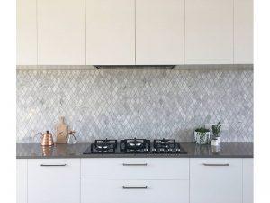 diamond tiles kitchen renovation  Gold Coast
