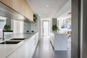 mirror splashback for kitchen renovation