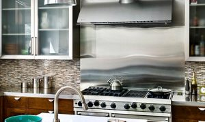 stainless steel splashback kitchen renovation