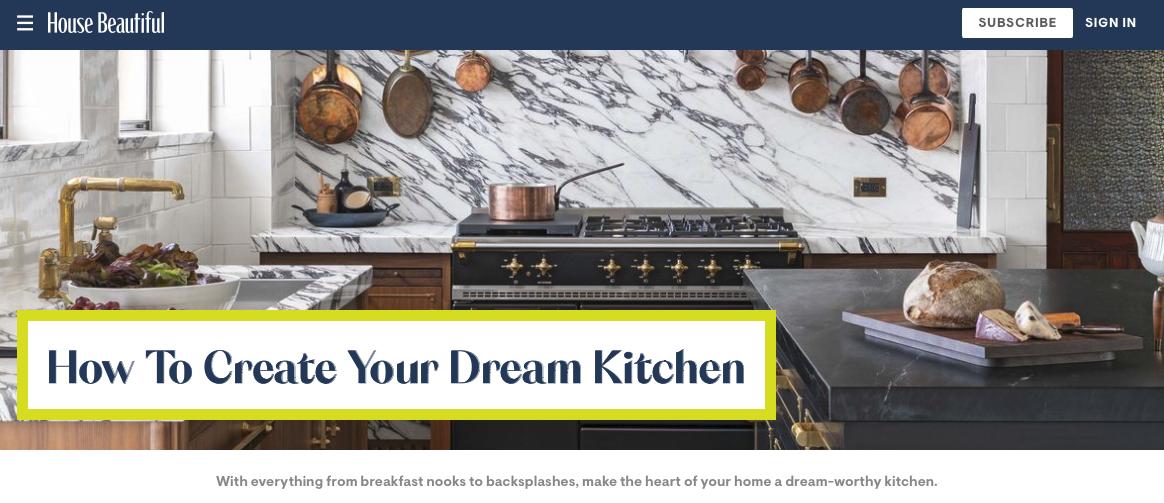house beautiful image of dream kitchen