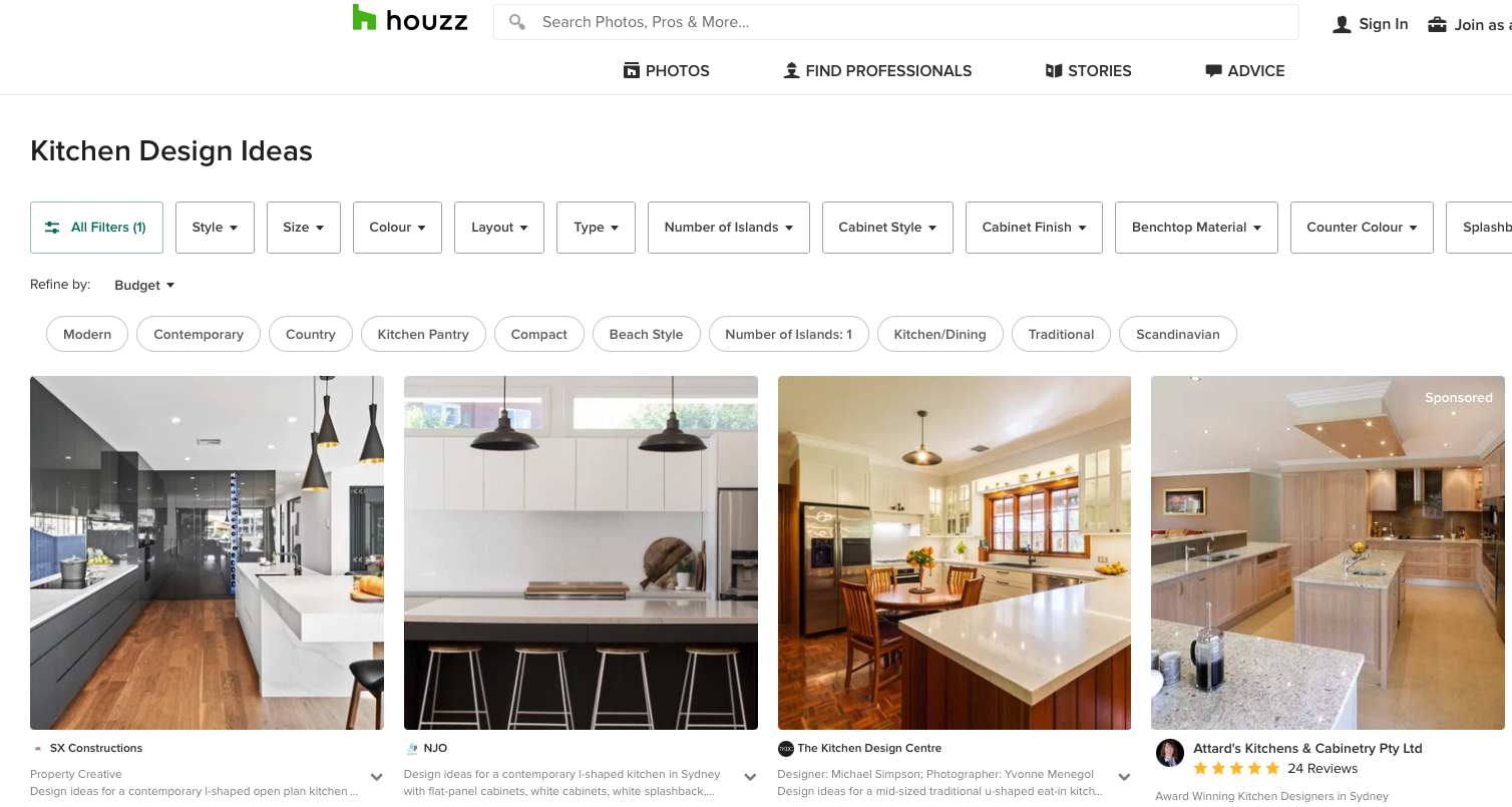 lots of kitchens showing various styles for renovation inspiration